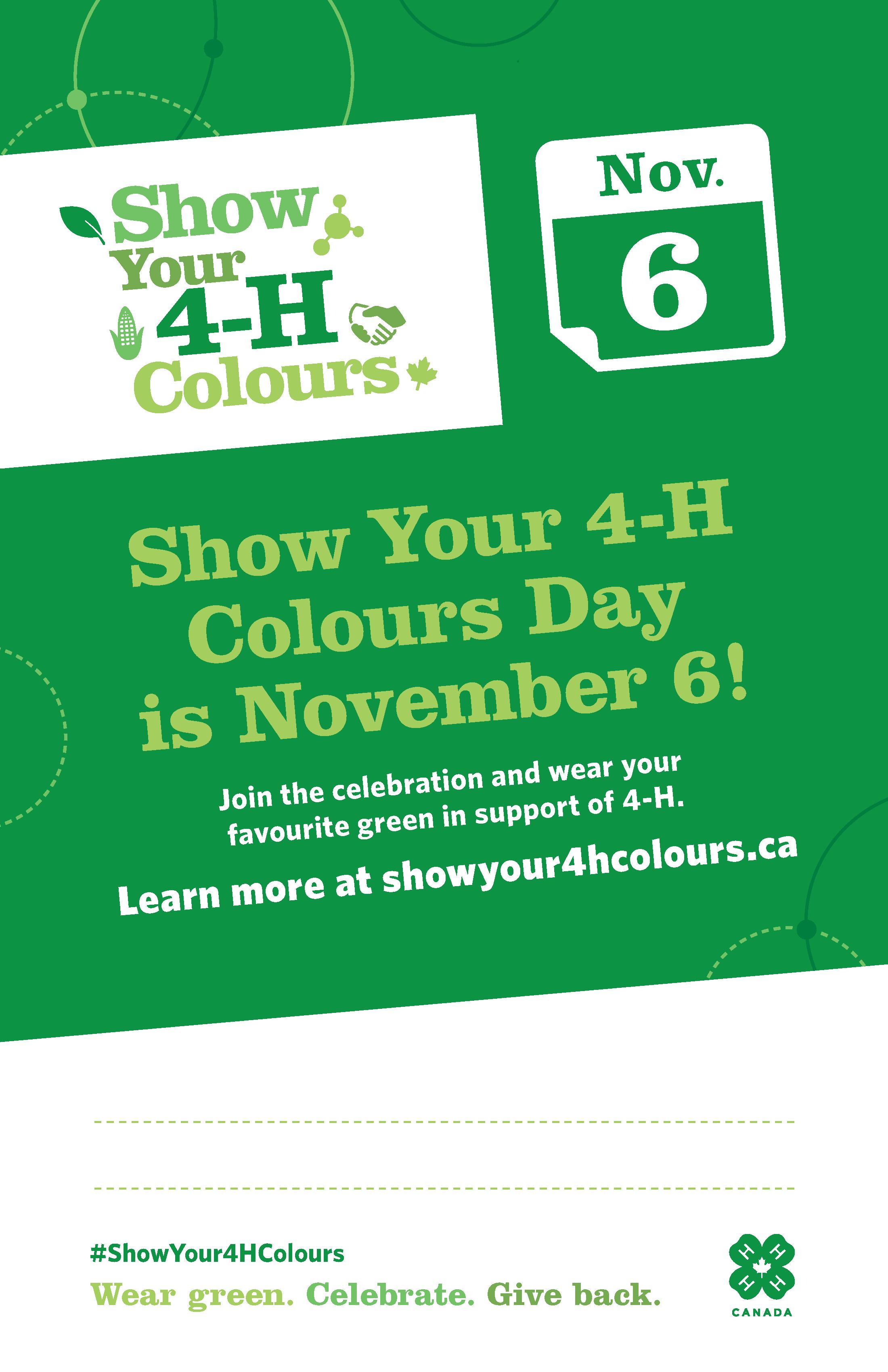 Show Your 4-H Colours Day_Fillable_11x17_EN