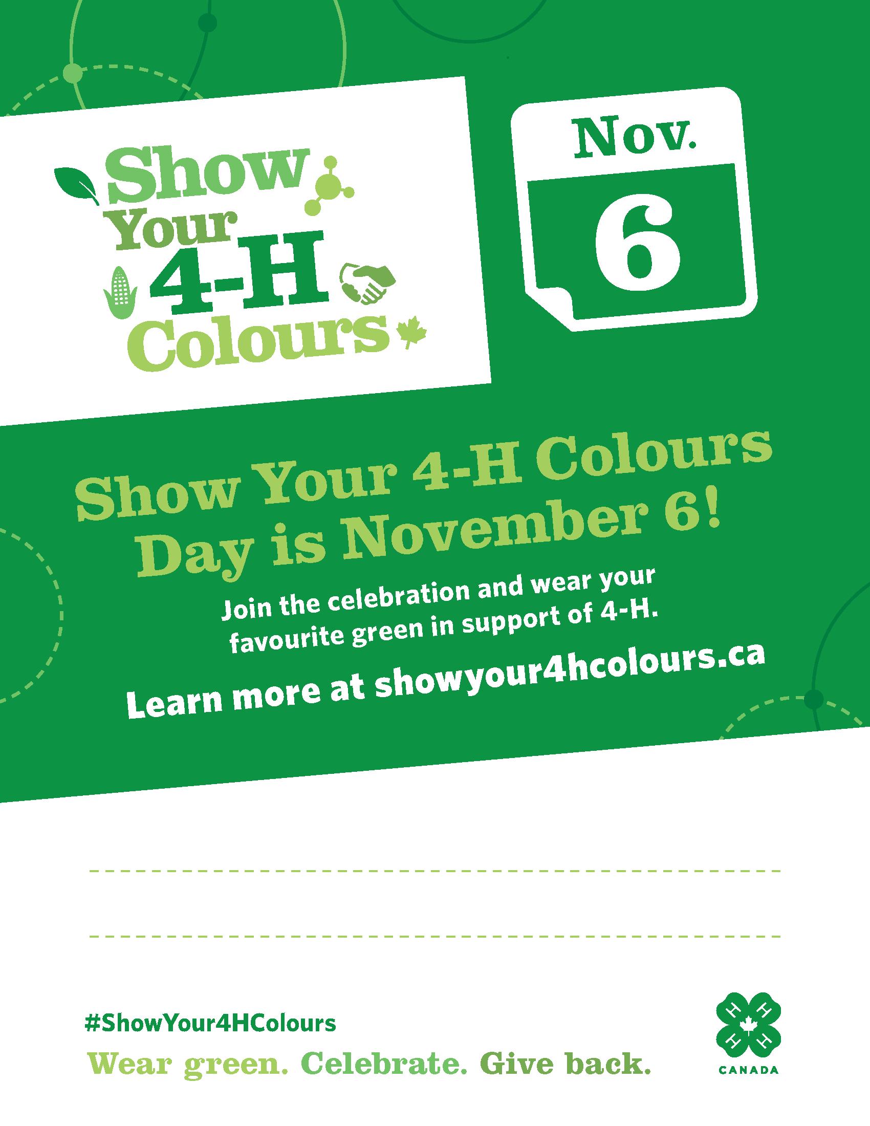 Show Your 4-H Colours Day_Fillable_8.5x11_EN