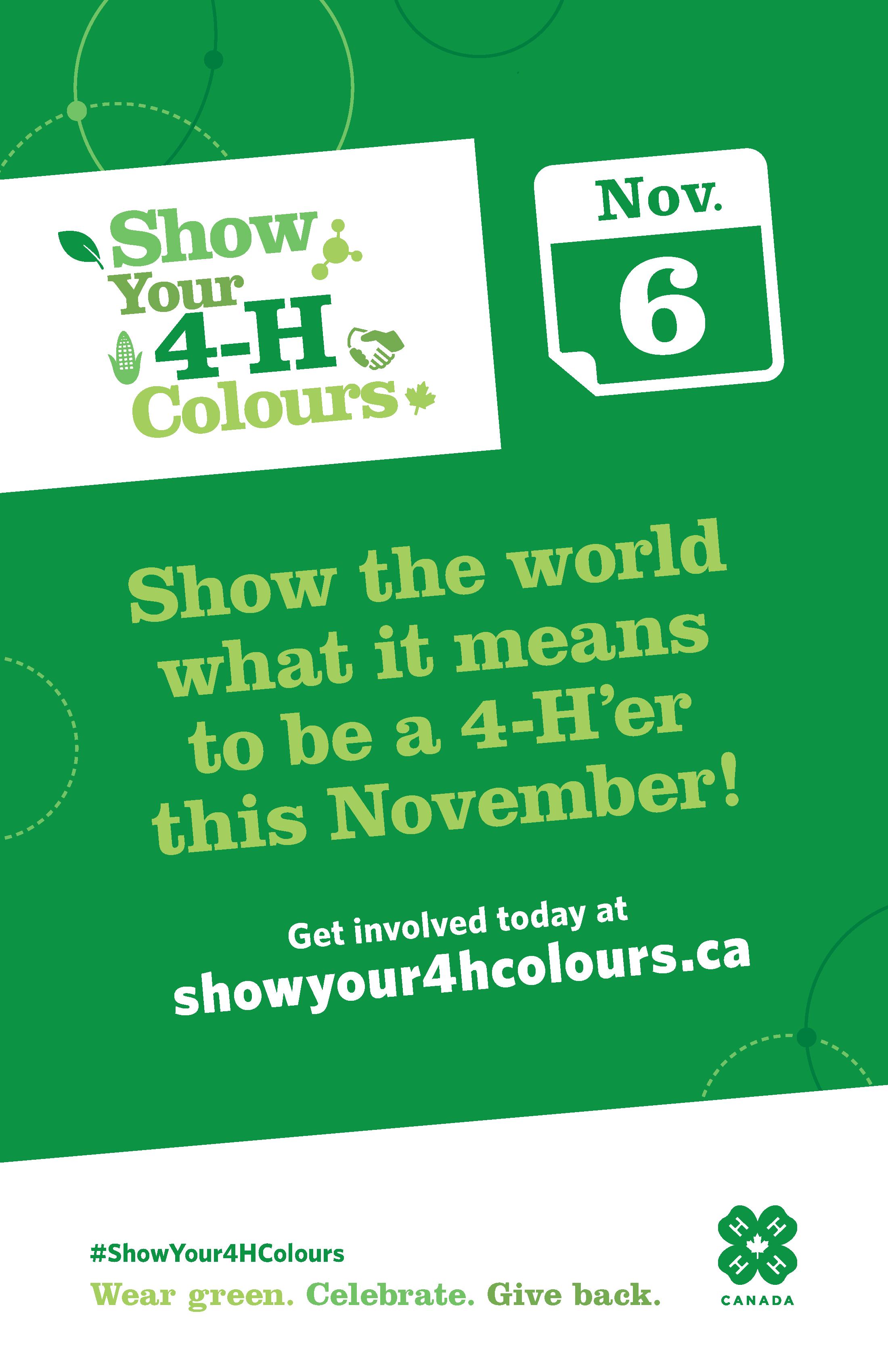 Show Your 4-H Colours_General_11x17_EN